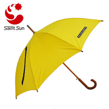 Cheap Yellow Stick Auto Open Promotional Straight Umbrella