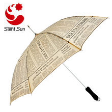 High Quality Paper Printing Auto Open Windproof Umbrella