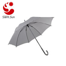 Manual open aluminium J Shape handle umbrella