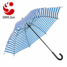White Straight Umbrella And Blue Stripe Advertising Umbrellas