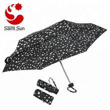 Portable Cartoon Cats Compact 5 Folding Sun Rain Umbrella