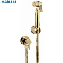 Wholesale Gold Bathroom Hand Shower Set with Flexible Hose and Holder bidet for toilet shattaf sprayer