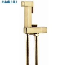 Brass Golden Bidet Push Hand Shower Sprayer Set Shattaf toilet bidet