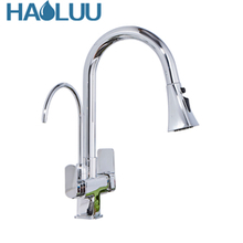 New design brass kitchen sink brass pull down kitchen faucet