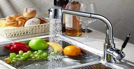 What is the material of the kitchen faucet?