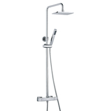 Bathroom Rain&Hand Square Shower Set System Wall Mounted