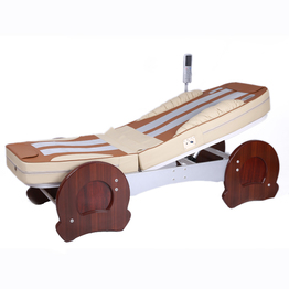 Top lever electric thermal infrared full body therapy jade massage bed for selling