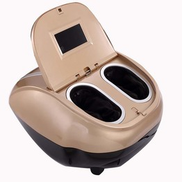 New Shiatsu Kneading Air Pressure vibration clamshell Foot Massager With LED Screen and touch control