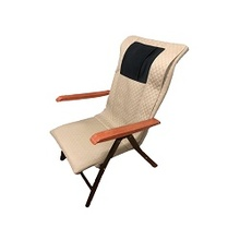 New Style Electric Leisure Foldable Wood Armrest Massage Beach Chair Massage Lounger