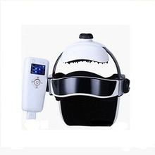 New Design Cordless Shiatsu Air Pressure Pain Relieve Heat Vibration Head Massager With LCD Controller Massage Casque