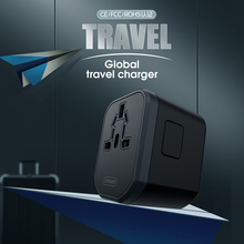 Multifunction Portable 2 Usb Global Travel Charging Socket