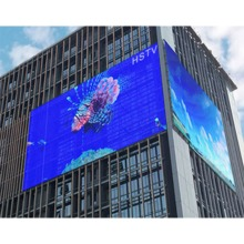 High brightness Outdoor Waterproof Curtain Display Mesh LED Display