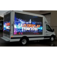 Moveable advertising LED screen Front service Van truck Display