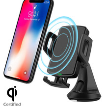 Qi Certified Fast Wireless Car Charger
