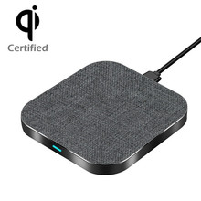 Square Qi Fast Aluminum Alloy Wireless Charger