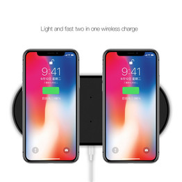 Dual Wireless Charger Fast Charging Station