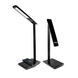 LED lampara de escritorio con QI Wireless Charger