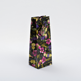 Flower Printed Wine paper bag