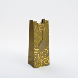 Gold PAPER BAG FOR WINE PACKAGING