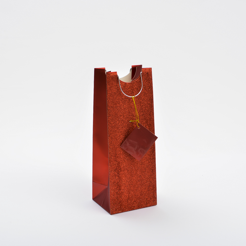 Red Color Paper Bags for wine packing