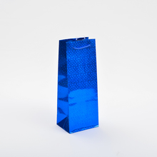 Printed Blue wine paper bag China Factory