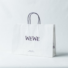 Logo printed white kraft paper bag