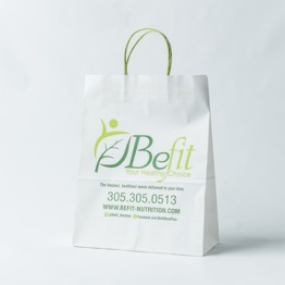 Make white paper bag as per your design