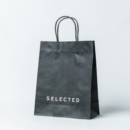 Customize Black color kraft paper bag