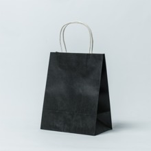 Black colour krfat paper bag