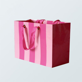Pink paper bags can be printed your logo