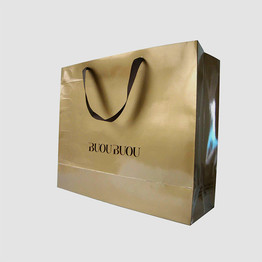 Custom logo printed paper bag with handle