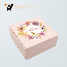 2017 wholesale Paper flower box packaging paper with your own printing paper gift box beautiful gift boxes