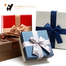 Factory wholesale beautiful ribbon gift paper box paper drawer box wedding box beautiful gift boxes