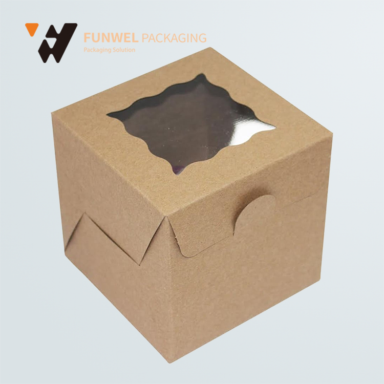 Newest style rigid packaging box with clear window on top kraft paper box gift beautiful gift boxes