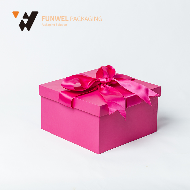 rigid gift paper box mache boxes with Lid wholesale beautiful gift boxes