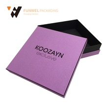 Custom purple clothing packaging box