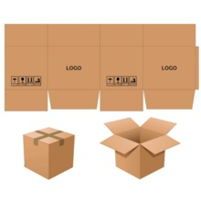 Customize Logo print mailing box cartons