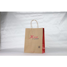 Brand logo printed brown kraft paper bags