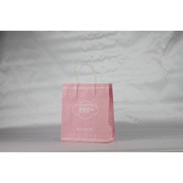 Customize Pink kraft paper bags with your logo printed
