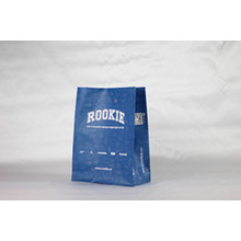 Blue Colour Printed Kraft Paper Bag