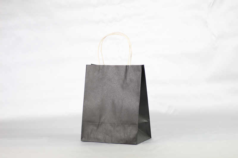 Black carrier paper bag