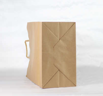 Flat handle kraft paper carrier bag