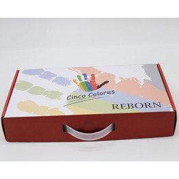 Custom design corrugated cardboard packaging box gift box with handle