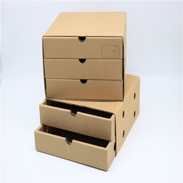 Custom Double Drawer Type Corrugated Boxes Cardboard Sliding Paper Box, Storage Box for Organizer