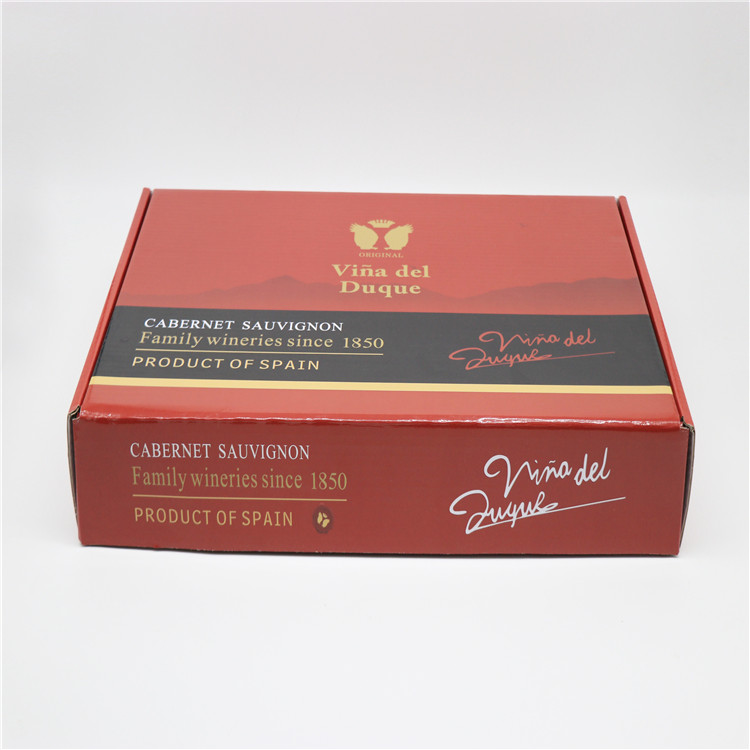 Custom design packaging box, easy to fold corrugated box