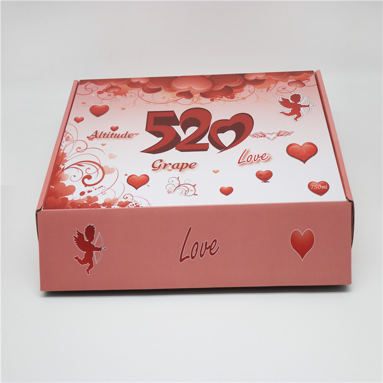 Custom printing corrugated cardboard packaging box, gift box
