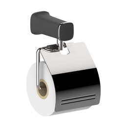 H00204G1002 Delux Black Square Toilet Paper Holder bath hardware