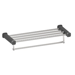 H00204G0102 Delux Black Square  towel rack