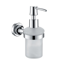 H003048303CP Chrome Soap and Lotion Dispenser, Wall Mounted, Solid Brass bathroom accessories