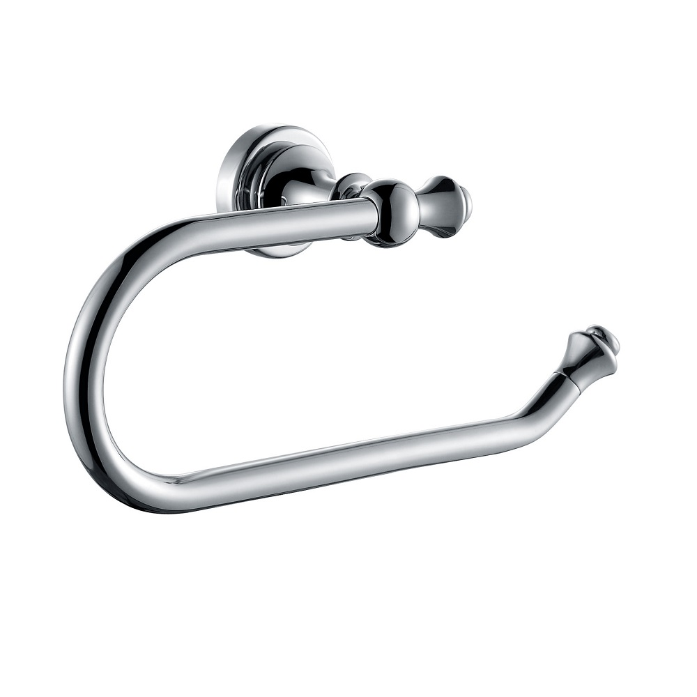 H003048340cp chrome towel ring wall mounted solid brass - Solid brass bathroom accessories ...